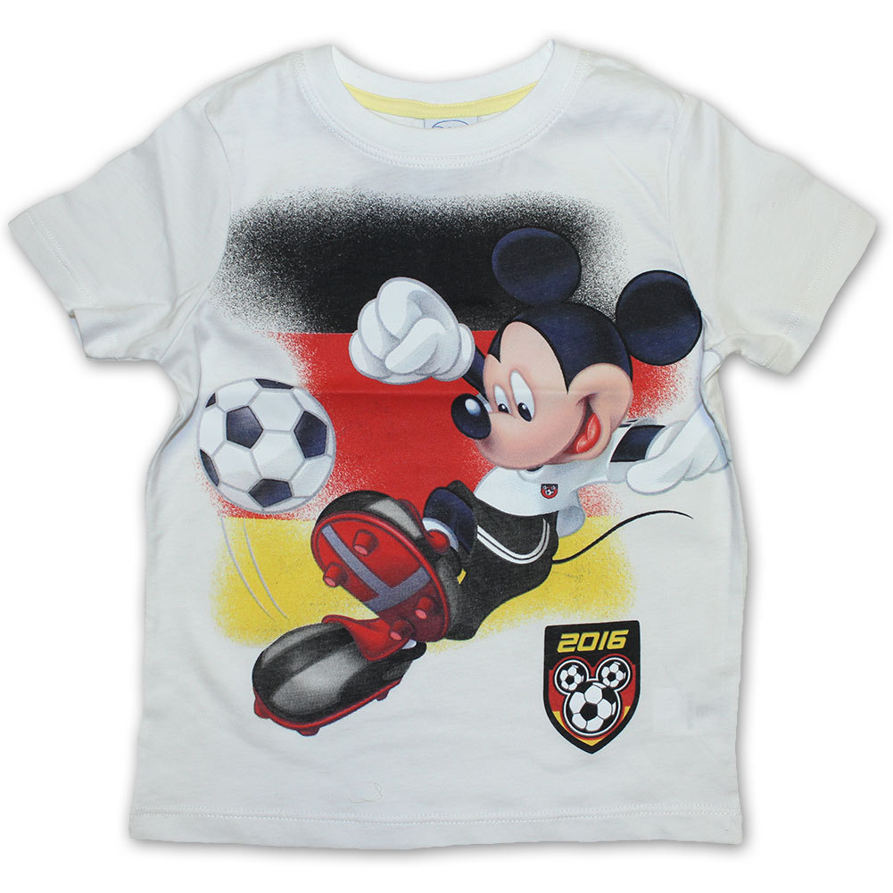 disney micky maus fussball t shirt weiss sommer 2016. Black Bedroom Furniture Sets. Home Design Ideas