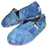 Paez Espandrilles Eva multicolor washed denim