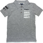 Mr & Mrs Woods festliches Polo Shirt grey