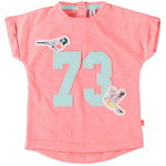 Babyface T-Shirt m.Applikation fluo orange