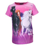 Miss Melody T-Shirt 3 Pferde pink