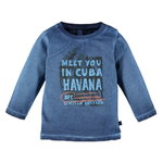 Babyface Langarm Shirt Havanna dark blue