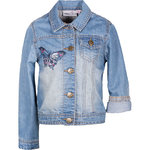 Happy Girls Jeansjacke mit Schmetterling denim