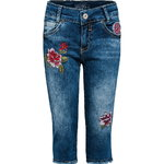 Blue Effect Capri Jeans mit Stickerei blue denim