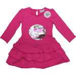 Happy Girls Smily Kleid Pailletten pink