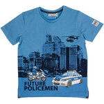 Salt and Pepper T-Shirt Policemen middle blue