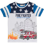 Salt and Pepper T-Shirt Fire Stars blue mel