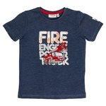 Salt and Pepper T-Shirt FIRE Reflektorprint blau