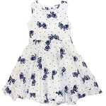 Happy Girls Drehkleid mit Schleifendruck navy