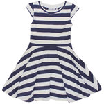 Happy Girls Drehkleid mit Streifendruck navy