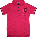Quapi Sebay Poloshirt red sketch