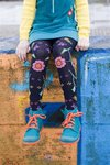 Bonnie Doon Enchanting Flowers Tights navy