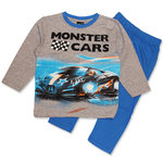 Monster Cars Pyjama grau - blau