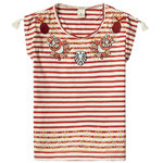 Scotch Rbelle T-Shirt mit Stickerei gestreift