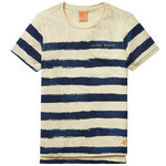 Scotch Shrunk T-Shirt gestreift beige blau