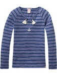 Scotch Rbelle Shirt Sailor blau gestreift