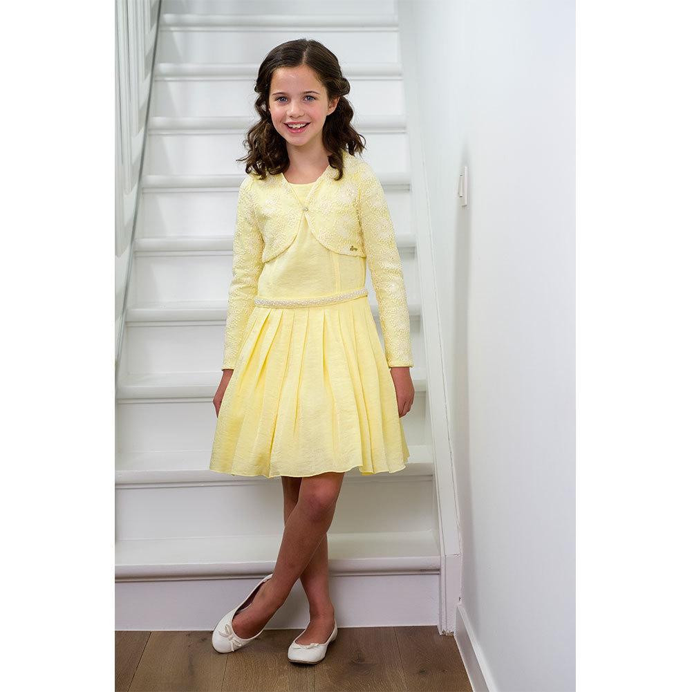 gymp festliches kleid gelb luxor