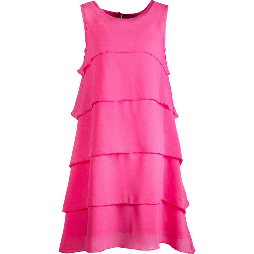 Eisend Kids festliches Kleid Volants pink