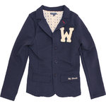Mr Woods festlicher Sweat Blazer navy