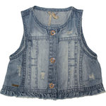 Sarabanda Jeansweste destroyed light denim