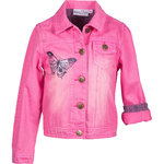 Happy Girls Jeansjacke mit Schmetterling pink