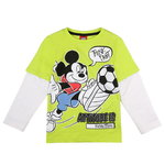Disney Mickey Shirt Think Fast neon green