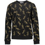 Geisha Sweatshirt Leopardenprint black yellow