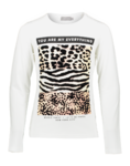 Geisha Langarmshirt animal print off white