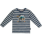 Salt and Pepper Langarmshirt Traktor ink blue stripe