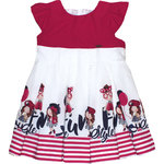 Mayoral Baby Kleid Fun Style rot