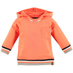 Babyface Kapuzen Sweatshirt orange red