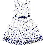Happy Girls Vogelkleid white navy