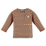 Babyface Langarmshirt neon orange stripe