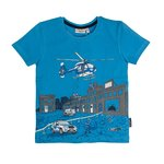 Salt and Pepper T-Shirt Police river blue