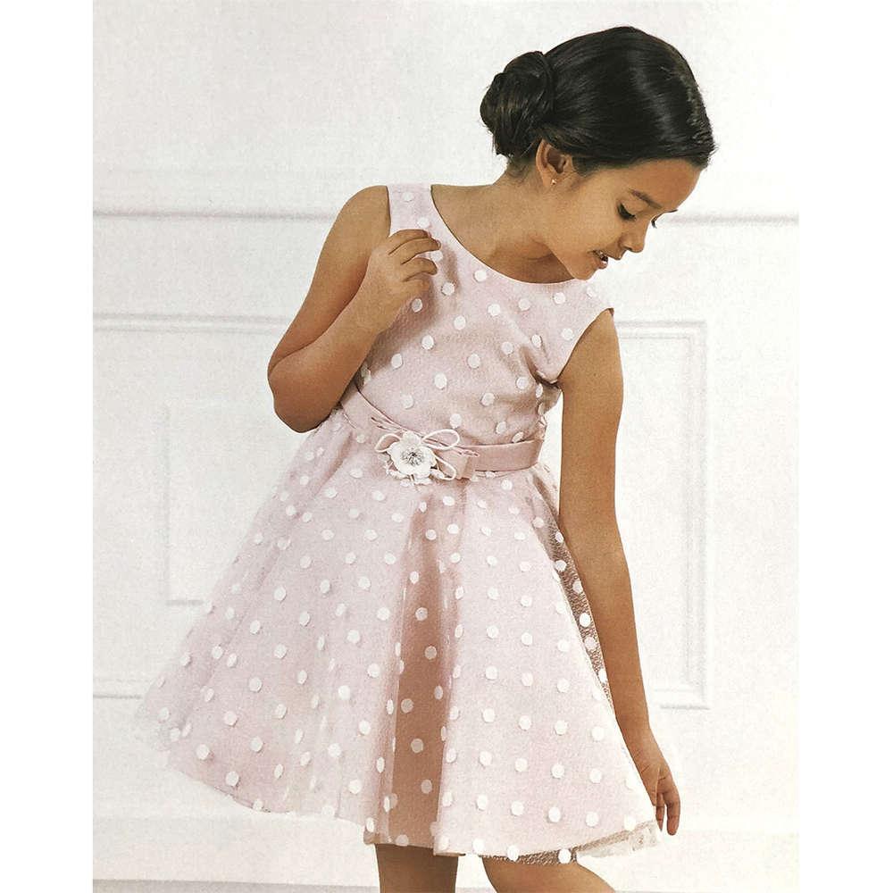 Abel Luna Festliches Kleid Dots Rosa Festlich 20