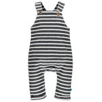 Babyface Newborn Strampler dark grey stripe