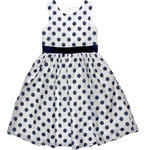 Happy Girls festliches Kleid Dots weiss